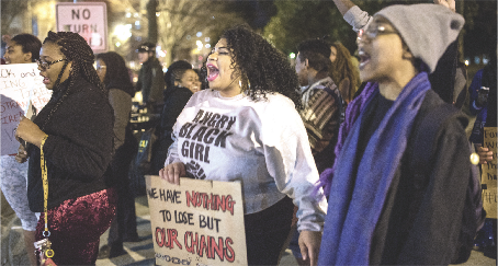 """1st place:Craig Zirpolo,""""Black Lives Matter protest shuts down Broad Street."""""""